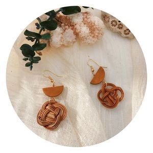 Jewelry - Earrings, handcrafted, straw, wood, accessories